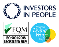 Our awards: Investors in People, ISO9001 and Living Wage Employer