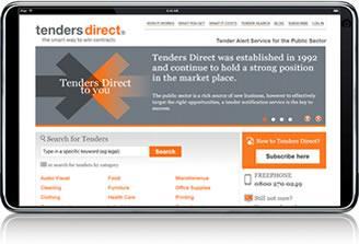 Tenders Direct on the iPhone